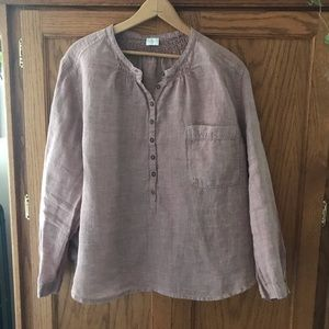Dusty Pink Poetry Linen Tunic